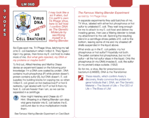 LM06D: Virus DNA Convicted as Cell Snatcher