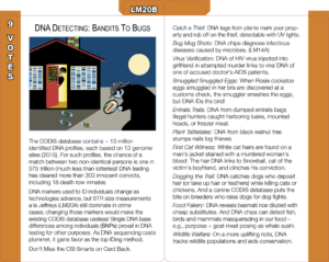 LM20B: DNA Detecting—Bandits to Bugs