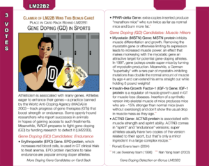 LM22B2: Gene Doping (GD) in Sports